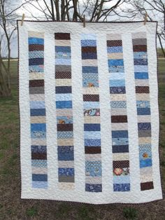 Stacked Coins for a Boy by Angel Scraps Quilting, via Flickr