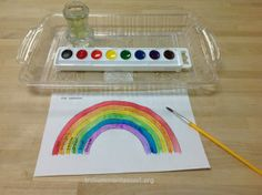 Guided Rainbow painting - maybe try with raised salt painting