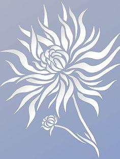 Chrysanthemum Stencil 2 pour Murs