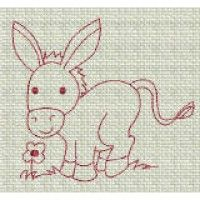 Buy ZDBJJ246-1 Barnyard Friends Redwork-Single , from for $4.00 only in Designs By JuJu Machine Embroidery Downloads.