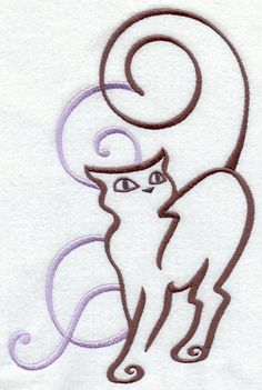Machine Embroidery Designs at Embroidery Library! - Art Nouveau Cat