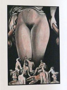 Clovis Hugues(1851-1907)... illustration for poem 'Ode au vagin' 1933