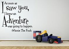 Amazon.com: Wall Room Decor Art Vinyl Sticker Mural Decal Winnie Bear Quote Cartoon Character Boy Girl Nursery Bedroom AS1165: Baby