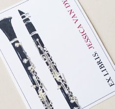 Clarinet Bookplate Personalized for the Music by nancynikkodesign, $23.00  ETSY