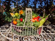 This weeks edible arrangement out of our garden.