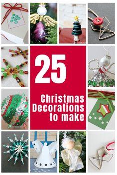 25 Christmas Decorations to Make • The Crafty Mummy Crochet Christmas Ornaments, Christmas Angels, Christmas Crafts, Christmas Stars, Beaded Ornaments, Christmas Knitting, White Christmas, Christmas Holidays, Rainbow Blocks