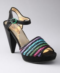 Another great find on #zulily! Black Giggly Sandal by Poetic Licence #zulilyfinds