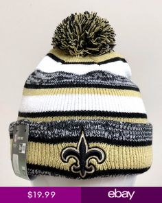 NEW ERA NFL SPORT KNIT AT GAME BEANIE NEW ORLEANS SAINTS ES4 e9fced5aebe