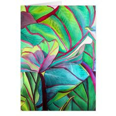 Plant Painting, Plant Art, Fabric Painting, Tropical Art, Tropical Leaves, Tropical Flowers, Watercolor Plants, Watercolor Paintings, Watercolour