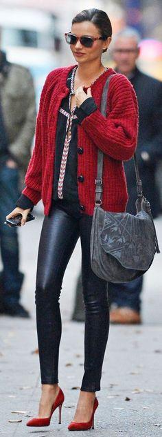 Miranda Kerr cute red knit Cardi www.findit4women.co.za