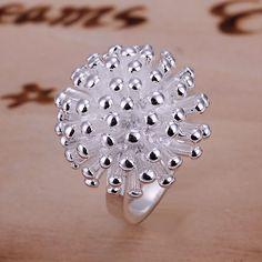 2014 venta Caliente Chrismas regalo plateado plata Al Por Mayor de joyería de moda anillo, anillo Fireworks SMTR001