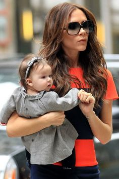 Harper Seven Beckham and Victoria Beckham