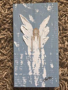 Angel Painting – Diy Home Decor Wood Angel Wings Art, Angel Art, Christmas Angels, Christmas Art, Angel Crafts, Diy Canvas Art, Christmas Paintings, Painting Inspiration, Diy Art
