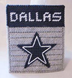 Dallas Cowboys plastic canvas tissue box cover by AuntCCcreations