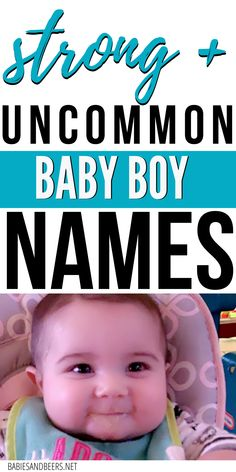Searching for the perfect baby name, but don't want to use an overused one? This list of baby boy names are uncommon, but still great. Uncommon Baby Boy Names, Unique Baby Names, Baby Boy Middle Names, Names With Meaning, First Names, Searching, Helpful Hints, Meant To Be, Infant