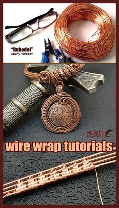 by vorobev Wire Jewelry Designs, Handmade Wire Jewelry, Wire Wrapped Jewelry, Wire Jewelry Patterns, Wire Tutorials, Jewelry Making Tutorials, Wire Weaving Tutorial, Bijoux Fil Aluminium, Do It Yourself Jewelry