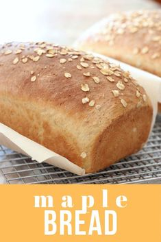 Maple Oatmeal Bread is sweetened with maple syrup with no other added sugar. It has a secret ingredient of coffee which is an interesting twist. Great for sandwiches or for toast and jam. Oatmeal Bread Recipe, Homemade Sandwich Bread, Lemon Bread, Fruit Bread, Quick Bread Recipes, Cinnamon Bread, Maple Syrup, Bread Baking, Pain