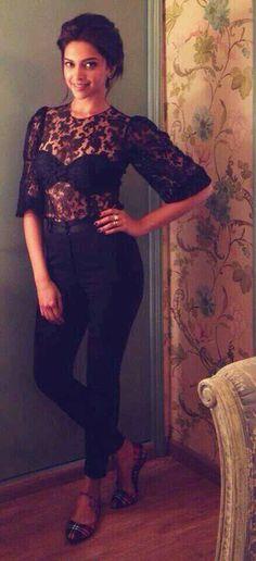 Deepika Padukone in Dolce Gabbana for Ram Leela Promotions