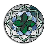 Stained Glass Free Pattern, Round Celtic
