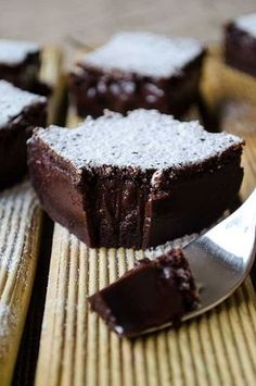 """Chocolate Magic Custard Cake with a very soft center. This is the """"sister"""" recipe to the original Zesty Magic Custard Cake. Sweet Recipes, Cake Recipes, Dessert Recipes, Dinner Recipes, Casserole Recipes, Pasta Recipes, Crockpot Recipes, Soup Recipes, Breakfast Recipes"""