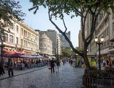 Rua das Flores em Curitiba, primeira rua exclusiva para pedestres do Brasil
