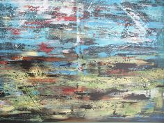 Industrial Rustic Abstract Painting by BlissStudio28 on Etsy, $425.00