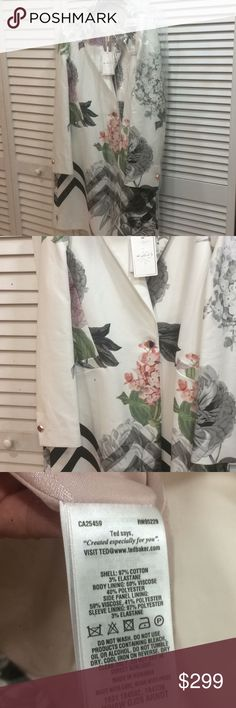 a64f90235 Ted Baker Palace Garden Straight Coat. Gorgeous. NWT. Tag is 279GBT. That