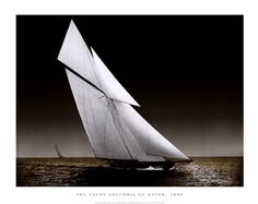 """The+Yacht+Columbia+on+Water,+1899   24"""" x 20"""" $77.99  fulcrumgallery.com"""