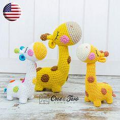 Bernie the Giraffe Quad Squad pattern by Carolina Guzman