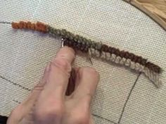 Sally Charnley demonstrates rug hooking