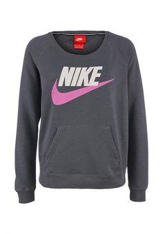 Джемпер Nike / Найк женская. Цвет: серый. Сезон: Весна-лето 2014. С бесплатной доставкой и примеркой на Lamoda. http://j.mp/1rZU5uJ