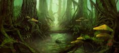 Scene by cornwainer on deviantART Nice landscape with a deep forest feel.