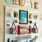 Permalink to: Craft Room Wall with Whites and Brights