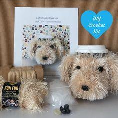 Crochet Kits - Crochet Pattern Gift - Amigurumi Kit - Labradoodle Crochet Pattern - Crochet Gift - Gift for Crocheter - Craft Gifts
