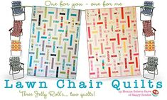 Lawn Chair Quilts Tutorial from MBS by Monica of Happy Zombie - jelly roll friendly!
