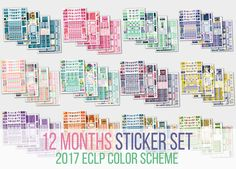 Each of 12 months set includes four sheets A5 size done on matte vinyl paper for Erin Condren Life Planner Vertical 2017. You can find more details on each set with the next links:   * December Set http://etsy.me/1Oc5eP3  * January Set http://etsy.me/1R38Uc0   * February Set http://etsy.me/1XMV7e2  * March Set http://etsy.me/1XMVaGQ  * April Set http://etsy.me/1OOk2Gw  * May Set http://etsy.me/1OOk9BN  *...