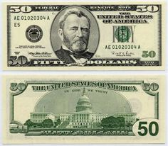 100 dollar bill front and back actual size - Yahoo Image Search Results Money Template, Bill Template, Templates Free, Card Templates, 100 Dollar Bill, Dollar Money, Dollar Bills, Us Currency Bills, Printable Play Money