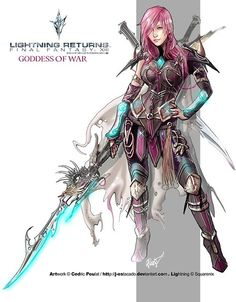 Find images and videos about art, sweet and awesome on We Heart It - the app to get lost in what you love. Final Fantasy Girls, Lightning Final Fantasy, Final Fantasy Artwork, Final Fantasy Characters, Lightning Images, Fantasy Warrior, Fantasy World, Fantasy Series, Game Art