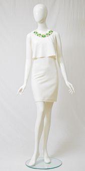 Empirekleid Voyalis White in Weiß | ana alcazar