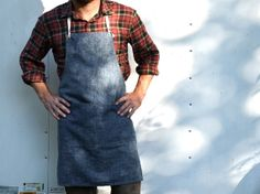 APRON no 2  organic cotton/hemp denim by smallbatchproduction, $68.00