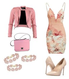 """think pink"" by gb1982 ❤ liked on Polyvore featuring Ginger Fizz, FRACOMINA, Massimo Matteo and BaubleBar"