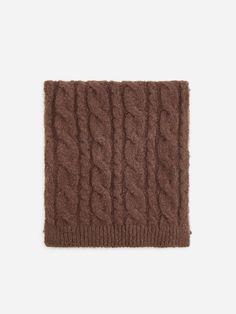 Nakupujte online! Šál s vrkočovým vzorom, RESERVED, WS233-89X Cable Knit, Knitting, Scarves, Breien, Tricot, Knitting And Crocheting, Crochet, Cable Knitting, Stitches