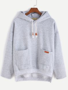 SheIn offers Grey Slit Side High Low Hooded Sweatshirt & more to fit your fashionable needs. Sweat Shirt, Grey Sweatshirt, Sweatshirts Online, Hooded Sweatshirts, Hoodies, Look Fashion, Fashion Outfits, Cool Outfits, Casual Outfits