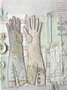 Mixed media gloves, Priscilla Jones