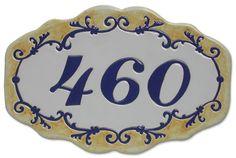 Números Para Residência E Comércio Em Cerâmica