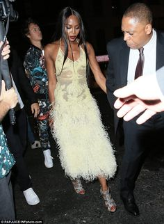Also on hand for the after party at the famed New York nightspot was catwalk queen Naomi Cambell.