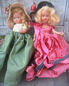 Vintage Nancy Ann bisque dolls