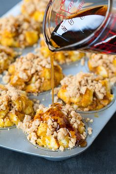 Pumpkin French Toast Muffins with Cinnamon Streusel Topping Recipe