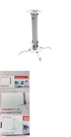 Projector Mounts and Stands: Gforce Adjustable Tilt And Swivel Universal White Projector Ceiling Wall Mount -> BUY IT NOW ONLY: $42 on eBay!