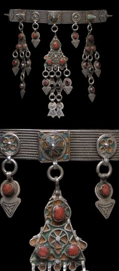 Morocco | Necklace from the south | Silver, enamel and stones | ca. 1930